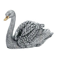 Comyns Sterling Silver:  Filled Figurine - Swan and Cygnet 10 cm