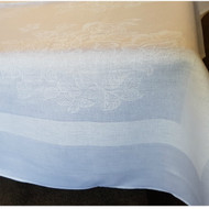 White Linen Cloth from Taylor Linen 148 cm x 145 cm