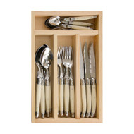 Simplicite Laguiole Cutlery Set 24 Piece - Ivory by Jean Dubost