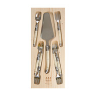 Simplicite Laguiole Cutlery 7 Piece  Cake Set -Ivory by Jean Dubost
