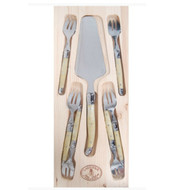 Laguiole Cutlery 7 Piece  Cake Set -Ivory by Jean Dubost