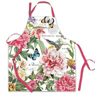 Peony apron made from 100% top quality cotton and showcasing pink peony flowers