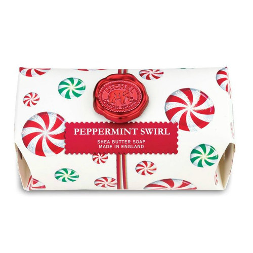 Peppermint Swirl Large Bath Soap by Michel Design Works
