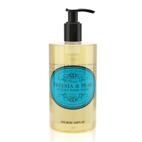 Naturally European Hand Wash - Freesia and Pear. NO SLS or parabens. Just a beautiful fragrance from natural ingredients.
