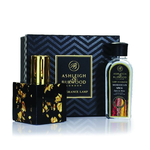 Ashleigh and Burwood -  Midnight Collection Gold and Moroccan Spice Large Lamp Gift Set