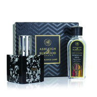 Ashleigh and Burwood -  Midnight Collection Silver and Moroccan Spice Lamp Gift Set