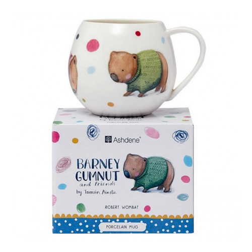 Barney Gumnut and Friends Wombat Mini Hug Mug from Ashdene. Cutest little mug in a matching gift box