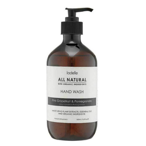 Ladelle All Natural Hand Wash Eucalyptus and Sweet Orange 500 ml - No nasties - just essential oils, plant extracts and organic ingredients - 500 ml