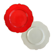 Blue Cadeaux Dessert Plate Set of 2 Red and White