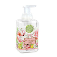 Flamingo Foaming Hand Soap by Michel Design Works - 530 ml pump bottle filled with hand soap liquid.