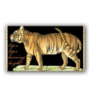 Tiger Matchbox by Michel Design Works filled with approx 50 matches with coloured heads
