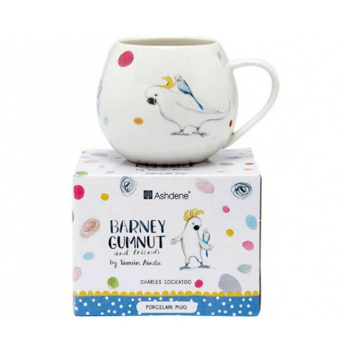 Barney Gumnut and Friends Cockatoo Mini Hug Mug by Ashdene with its lovely matching packaging