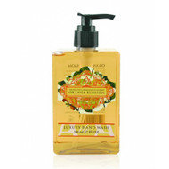 Orange Blossom Hand Wash AAA - Artesanales de Antigua Aromatherapy Square pump bottle of hand wash