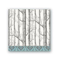 Silver Trees Luncheon Napkins by Michel Design Works