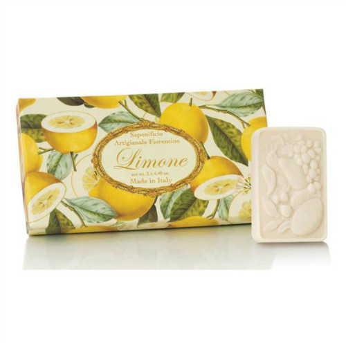 Saponificio Artigianale Fiorentino Lemon Soap Set - box of 3 x 125g  sculptured soaps
