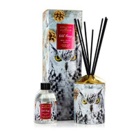 Wild Things Diffuser - Owl Night Long - Rose Vanilla -  Ashleigh and Burwood decorative ceramic vessel and 200 ml of fragrance and packaging with owl design