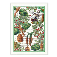 Spruce Tea Towel by Michel Design Works 100% cotton tea towel with design of pine cones, firs, and foliage.