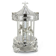 Whitehill Musical Carousel - silver plated music carousel.