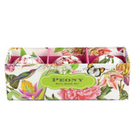 Peony Bath Bomb Set by Michel Design Works - 3 Bombs 3 bath bombs wrapped in peony design foil nesting in a gift box