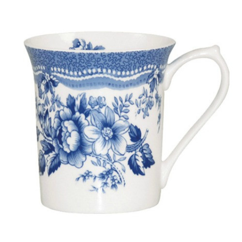 Queens Blue Story Tonquin Fine Bone China Mug by Churchhill - gift boxed