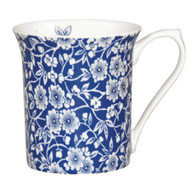 Queens Blue Story Victorian Calico Fine Bone China Mug by Churchhill - gift boxed