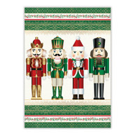 Nutcracker Tea Towel by Michel Design Works 100% cotton kitchen towel with design of 4 whimiscal characters with red, gold and green colours