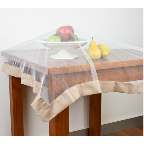 Buzz Off Food Cover by Hyde Park - Taupe weighted edging around polyester netting