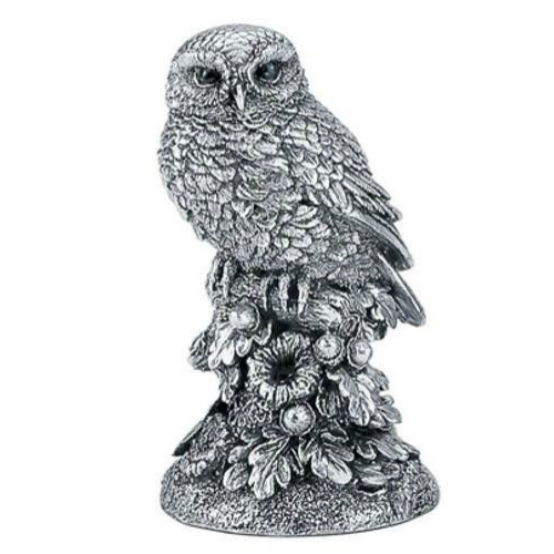 Comyns Sterling Silver:  Filled Figurine - Little Owl 7.5 cm
