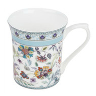 Queens Antique Blue Floral Fine Bone China Mug by Churchill - gift boxed