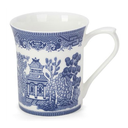 Queens Blue Story Blue Willow Fine Bone China Mug by Churchill - gift boxed