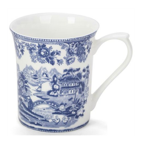 Queens Blue Story Tonquin Scenes Fine Bone China Mug by Churchhill - gift boxed