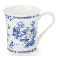 Queens Blue Story Toile Blue Fine Bone China Mug by Churchhill - gift boxed