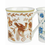 Queens Royale Peacock Gold Fine Bone China Mug by Churchill - gift boxed