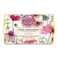 Posies Large Bath Soap by Michel Design Works 246g soap bar wrapped in designer paper of flowers