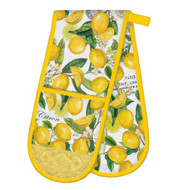 Lemon Basil Double Oven Glove by Michel Design Works double oven glove with design of lemons and foliage