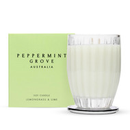 Lemongrass and Lime Large Candle - 350g by Peppermint Grove