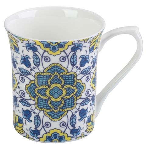 Queens Hidden World Portugal Castelo Fine Bone China Mug by Churchill - gift boxed