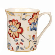 Queens Royal Jacobean Grande Fine Bone China Mug by Churchill - gift boxed