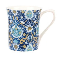 Queens Sian Indigo Mug by Churchill - gift boxed