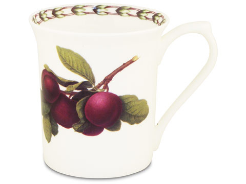 Queens William Hookers Fruit Mug Plum by Churchill - Fine Bone China Gift Boxed