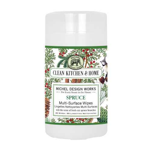 Clean Home Spruce Multi Surface Wipes by Michel Design Works