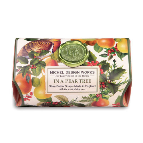 In a Pear Tree Large Bath Soap by Michel Design Works