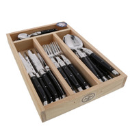 Laguiole 24 Piece Cutlery Set Maison by Jean Dubost - Black