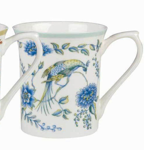Queens Royale Peacock Admiral Fine Bone China Mug by Churchill