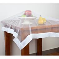 Buzz Off Food Cover by Hyde Park - White weighted edging around polyester netting