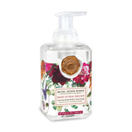 Sweet Floral Melody Foaming Hand Soap by Michel Design Works 530ml of foaming soap liquid in a designer pump bottle with a pretty floral designer label