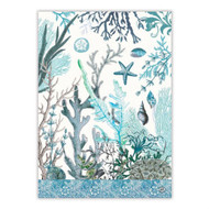 Ocean Tide Tea Towel by Michel Design Works 100% cotton tea towel with design of aquamarines