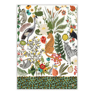 Wild Lemon Tea Towel by Michel Design Works 100% cotton tea towel with design of whimsical wild flora and fauna
