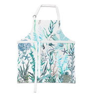 Ocean Tide Apron by Michel Design Works apron with design of sea weeds and shells