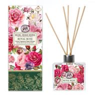 MDW -Royal Rose Home Fragrance Diffuser diffuser with pink roses design and 8 reeds